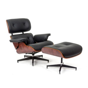 Amazon.com – ArtisDecor Plywood Lounge Chair and Ottoman – Rosewood with Genuine Bla ...