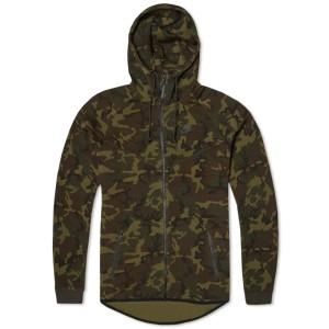 Nike Tech Fleece Camo Windrunner (Sequoia & Black)