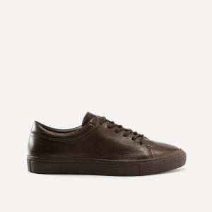 Park Leather Low-Top Sneaker in Brown