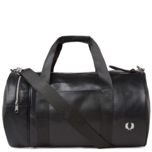 Fred Perry L9201 Pique Texture Barrel Bag in Black | Ships Fast & Free!   – Probus NYC