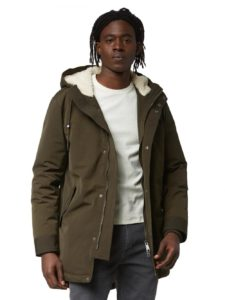Water Repellent Down-Filled Fishtail Parka in Military  | Frank + Oak