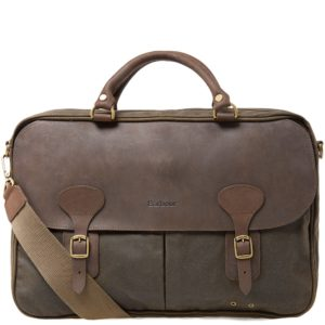 Barbour Wax Leather Briefcase (Olive)