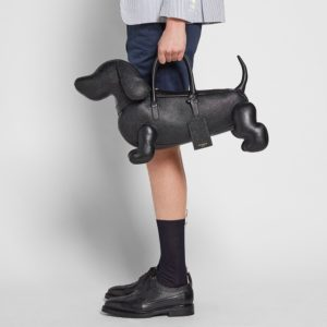 Leather Dog Bag – Thom Browne Leather Hector Bag (Black Pebble Grain)