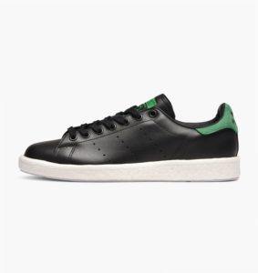 Leather adidas Originals – Stan Smith Boost – black and green