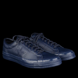 Leather Blue Converse – One Star 74 Ox in Navy