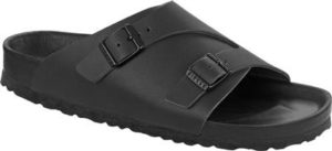 Black leather Birkenstock sandals