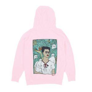 Frida Kahlo Pink Hoodie