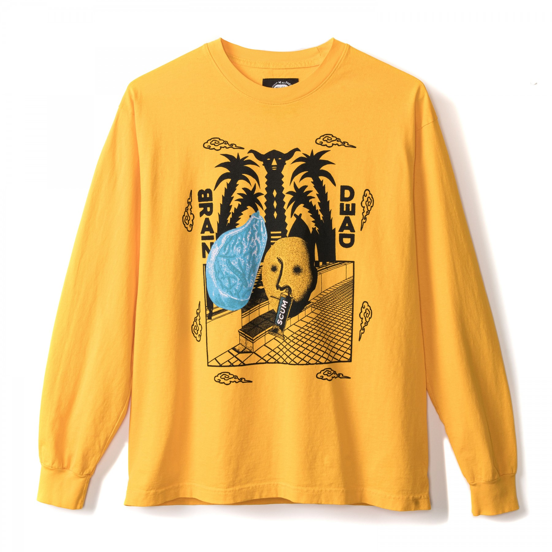 yellow brain dead sweater
